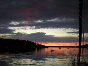 Sunset in Reid Harbor